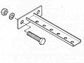 Straight Brackets w/ Mounting Plate for Web Mounting
