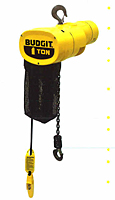BUDGIT Electric Chain Hoist Hook & Lug Mounted - Single Speed 10 ft Lift
