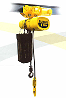 BUDGIT Electric Chain  Lug Hoist Lug Hoists with Motor Driven Trolley - Single Speed 10 ft Lift