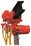 COFFING Hoist ATM Model Air Motor Trolley  1/4 to 3 t